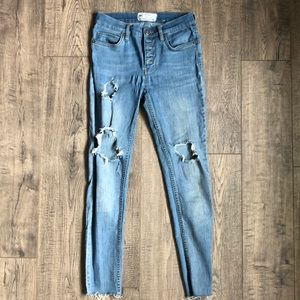 Free People Button Fly Skinny's